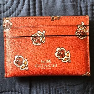 Coach floral card holder